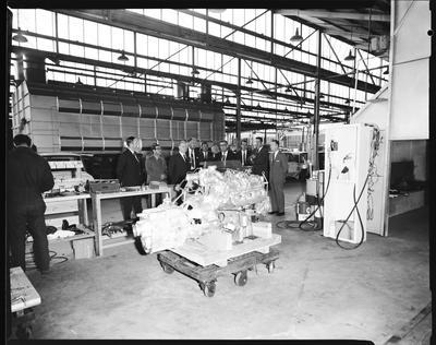 Film negative: International Harvester Company: opening of building extension