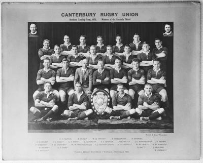 Film negative: Canterbury Rugby Union Team, 1931