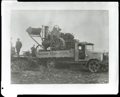 Film negative: International Harvester Company: Truck and traction engine