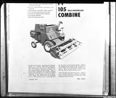 Film negative: International Harvester Company: new machines for Agricultural Journal