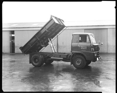 Film negative: Clyde Engineering Limited, hino truck at British Pavements