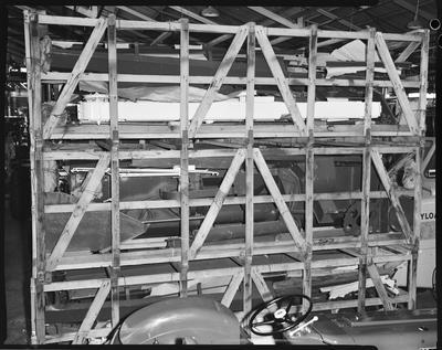 Film negative: International Harvester Company: 8.5 header, crating and skid loading