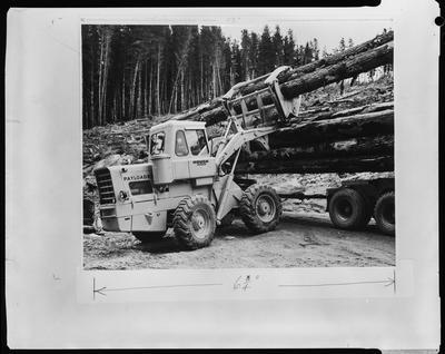 Film negative: International Harvester Company: scene and lettering on hough pay loader