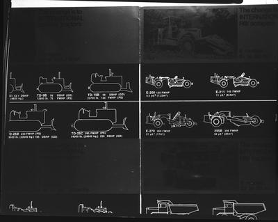 Film negative: International Harvester Company: lettering and drawings