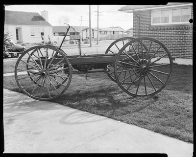 Film negative: International Harvester Company: old buggy