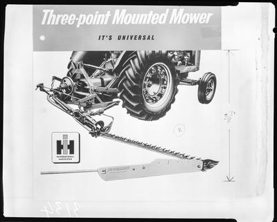 Film negative: International Harvester Company: mower
