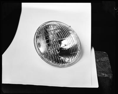 Film negative: International Harvester Company: parts, headlamp