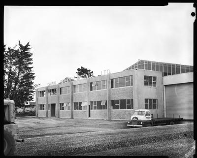 Film negative: Davin Sheetmetal Factory, windows