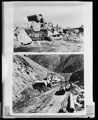 Film negative: International Harvester Company: bucket and blade, clearing the way