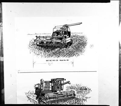 Film negative: International Harvester Company: drawing of header model 105
