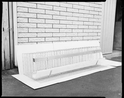 Film negative: Jack Perry chicken cages