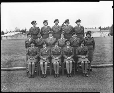 Film negative: Burnham Women's Royal Army Corps, group of sixteen