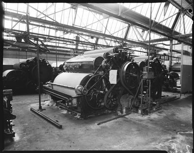 Film negative: Caxton Printing Works, machinery