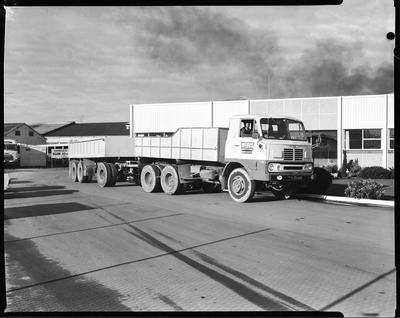 Film negative: Clyde Engineering Limited, truck at Crown Crystal Glass