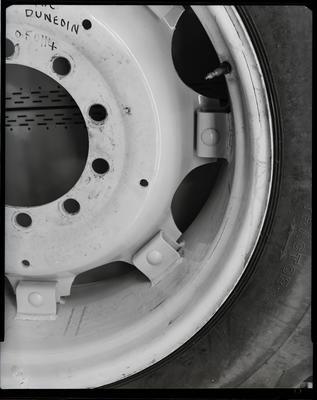 Film negative: International Harvester Company: split tractor rims
