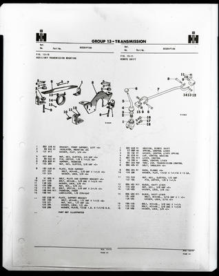 Film negative: International Harvester Company: truck manual specifications