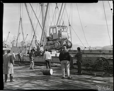 Film negative: International Harvester Company: Roger Mahan, machines going to the Chathams