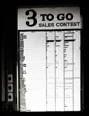 Film negative: International Harvester Company: sales list, part one