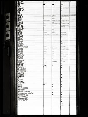 Film negative: International Harvester Company: sales list, part two