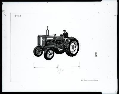 Film negative: International Harvester Company: B614 tractor illustration