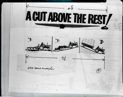 "Film negative: International Harvester Company: advertisement, ""a cut above the rest"""