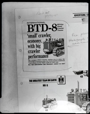 Film negative: International Harvester Company: advertisement, Btd-8