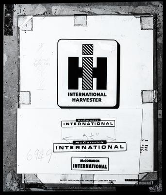 "Film negative: International Harvester Company: logo ""International McCormick"""
