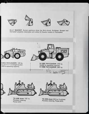 Film negative: International Harvester Company: diagram of construction equipment