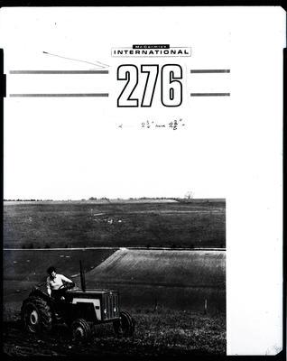 Film negative: International Harvester Company: 276 tractor at work