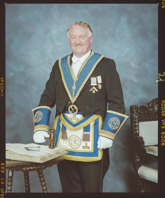 Negative: Mr R Berry, Provincial Masonic Lodge
