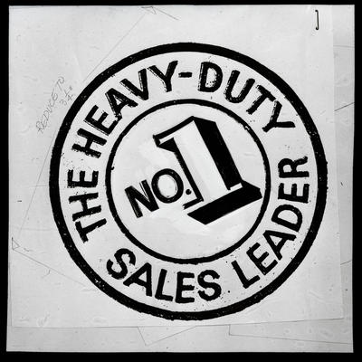"Film negative: International Harvester Company: logo ""the heavy duty, # 1 sales leader"""
