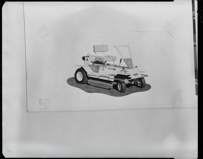 Film negative: International Harvester Company: ride-on mower