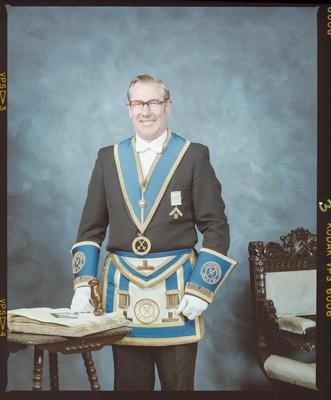 Negative: Unnamed Man Provincial Masonic Lodge