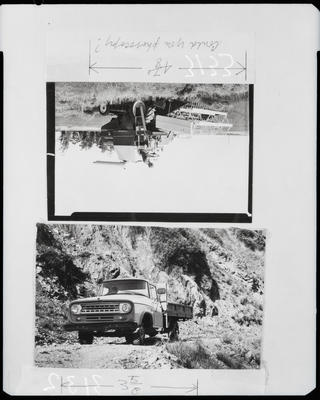 Film negative: International Harvester Company: 4x4 truck; 275 Windrower