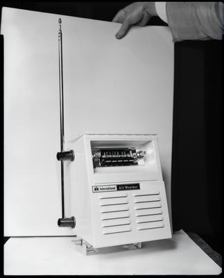 Film negative: International Harvester Company: all weather radio box