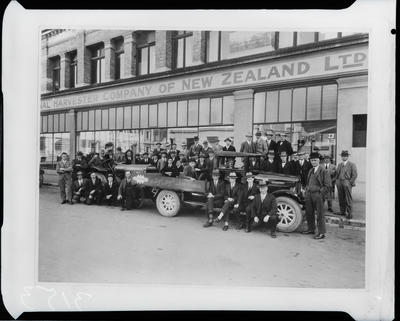 Film negative: International Harvester Company: 1927 staff group