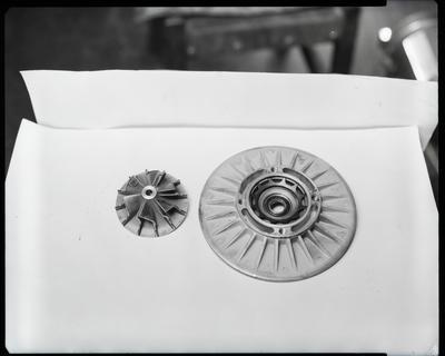 Film negative: International Harvester Company: broken turbo parts, TD20