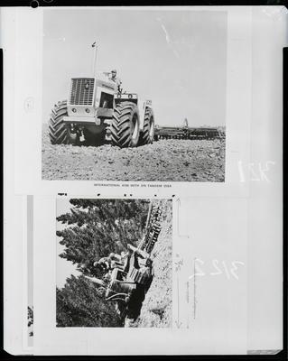 Film negative: International Harvester Company: farm machinery