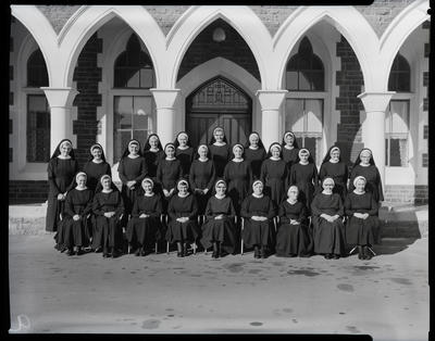 Film negative: St Mary's College, convent group