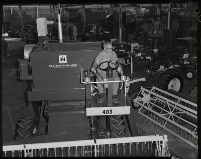 Film negative: International Harvester Company: 403 header