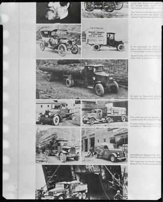 Film negative: International Harvester Company: trucks
