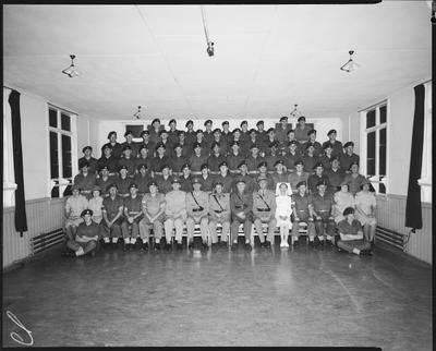 Film negative: Burnham Medical Depot, 10th Anniversay group, November 1965