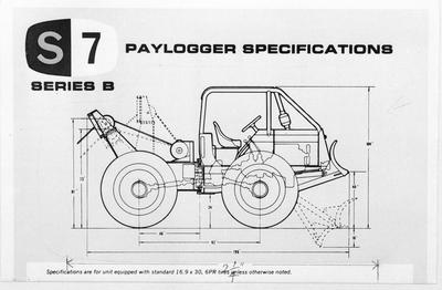Film negative: International Harvester Company: logger diagram