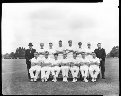 Film negative: Tramways Cricket tourney, group of fifteen