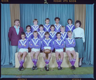 Negative: Parklands Rugby League Boys Team 1985