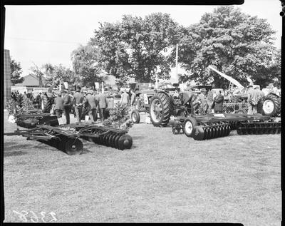 Film negative: International Harvester Company: A and P Show, tractors and ploughs