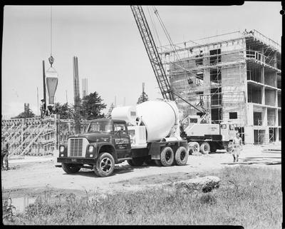 Film negative: International Harvester Company: Ashby Brothers concrete truck at Lincoln