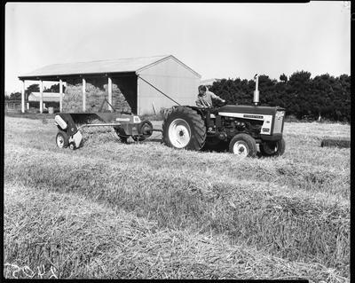 Film negative: International Harvester Company: tractor and baler