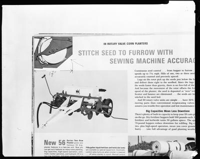Film negative: International Harvester Company: rotary valve, corn planter