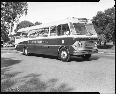 Film negative: International Harvester Company: Deluxe Motors, new bus